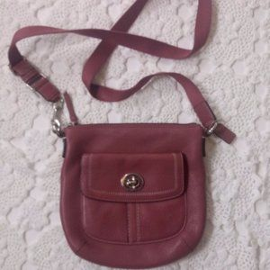 Coach Pink Leather Crossbody Purse Bag Small GUC